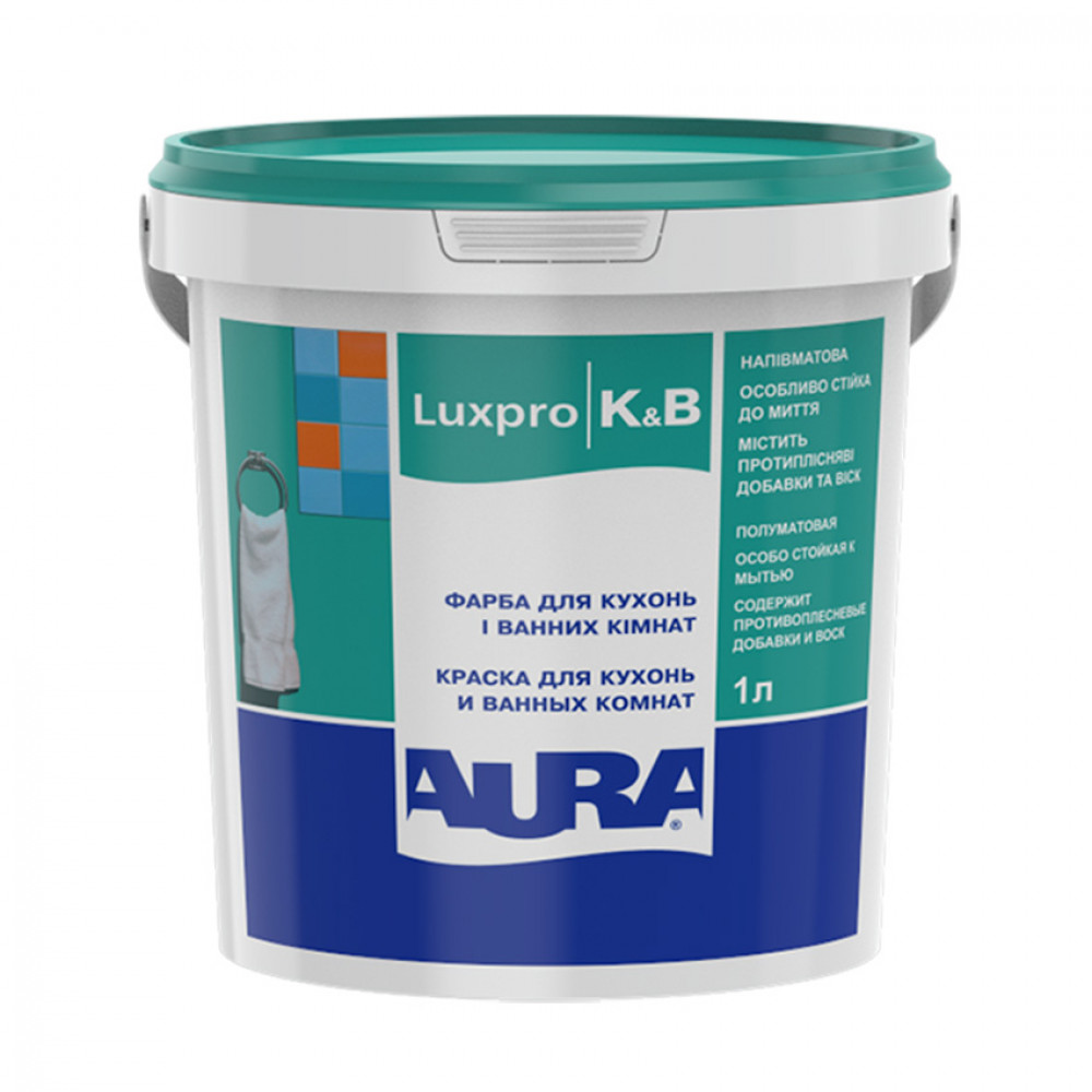 Фарба дисперсійна AURA Lux Pro K&B 1л