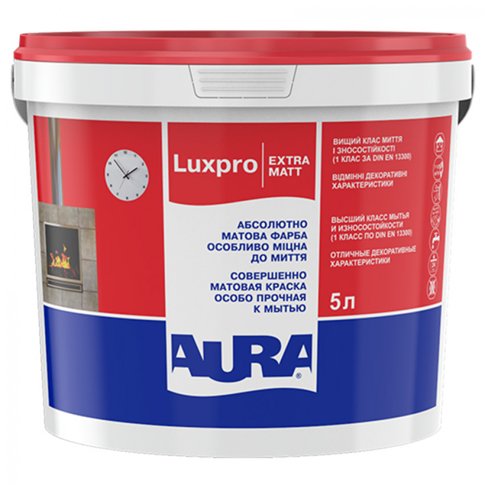 Фарба дисперсійна AURA Lux Pro Extramatt 5л
