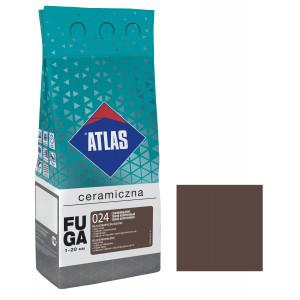 Фуга  ATLAS CERAMICZNA (1-20мм) 024 темно-коричневий 2кг