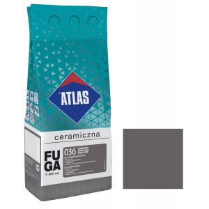 Фуга  ATLAS CERAMICZNA (1-20мм) 036 темно-сірий 2кг