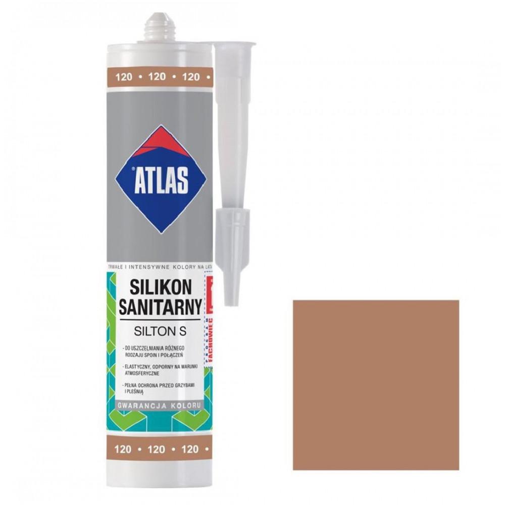 Герметик силиконовый санитарный ATLAS SILTON S 0120 тоффи 280ml