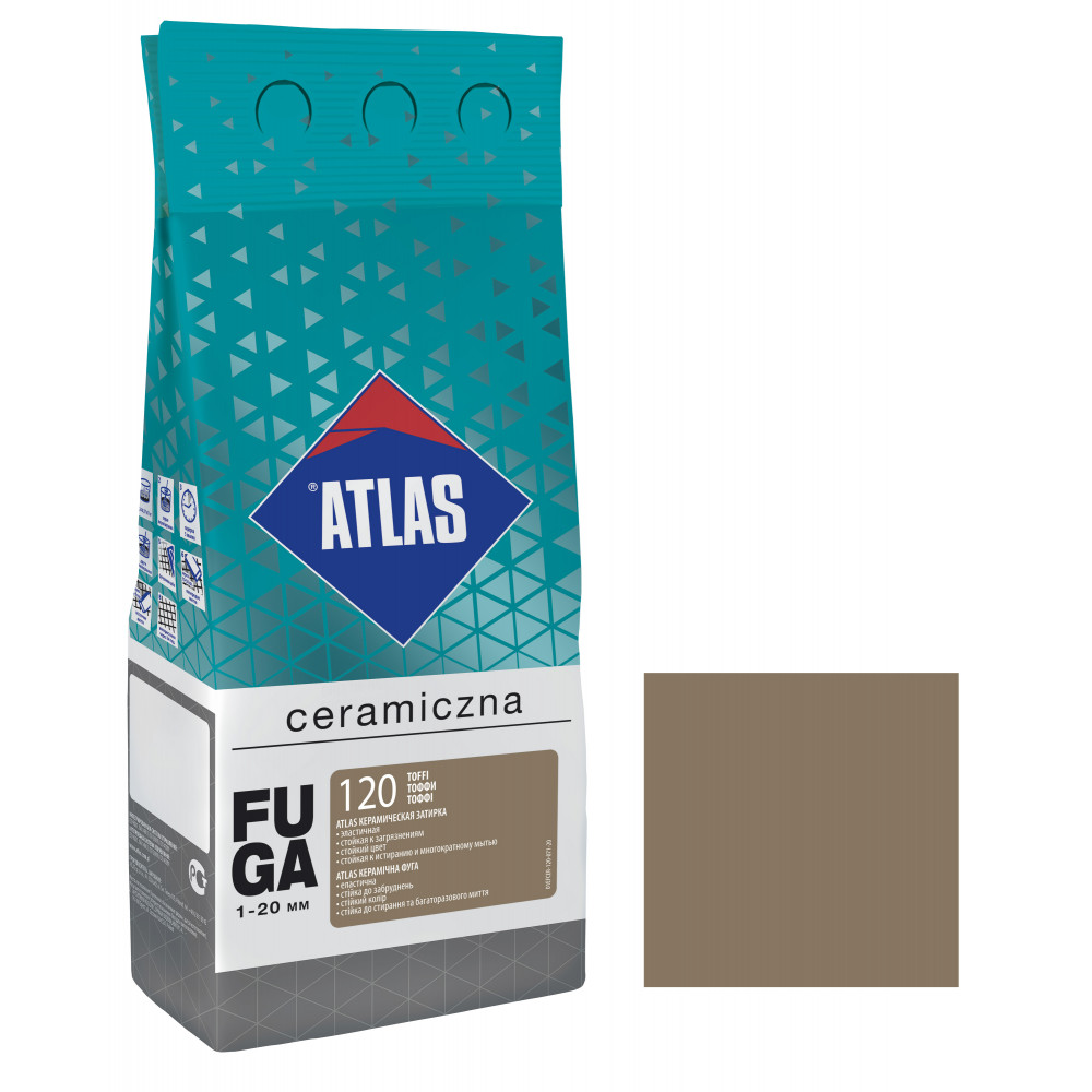 Фуга ATLAS CERAMICZNA (1-20мм) 120 тоффи 2кг