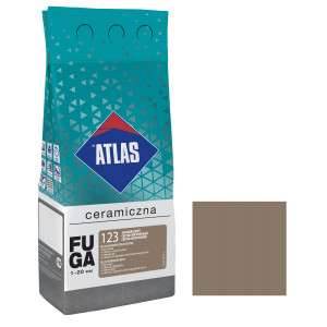 Фуга  ATLAS CERAMICZNA (1-20мм) 123 світло-коричневий 2кг