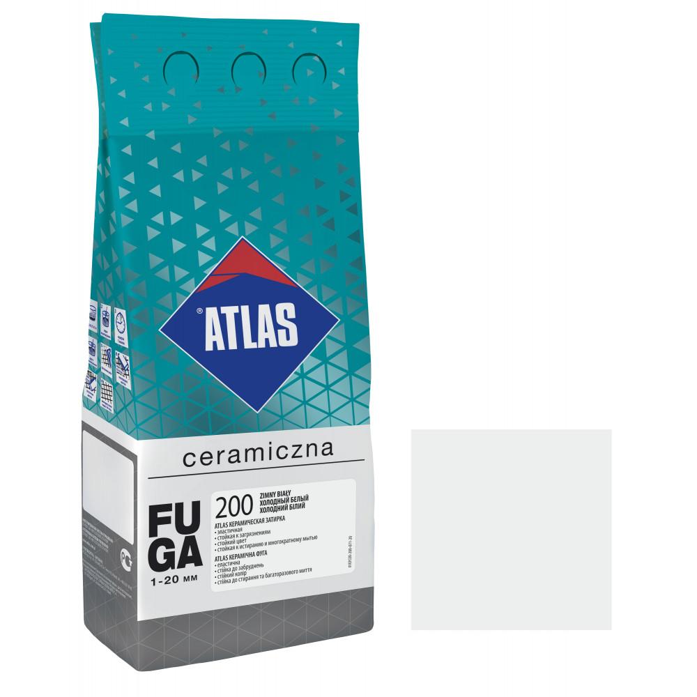 Фуга ATLAS CERAMICZNA (1-20мм) 200 холодный белый 2кг