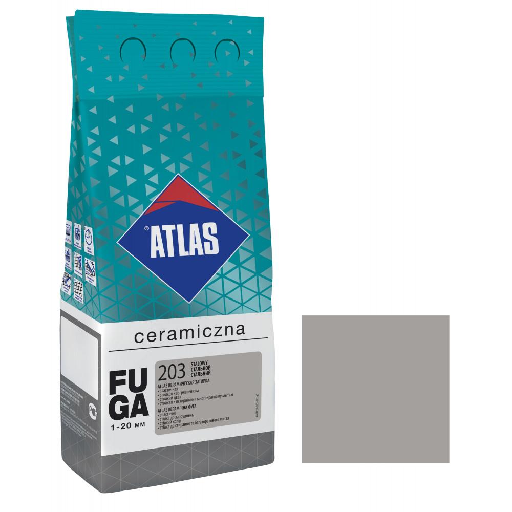 Фуга ATLAS CERAMICZNA (1-20мм) 203 стальной 2кг