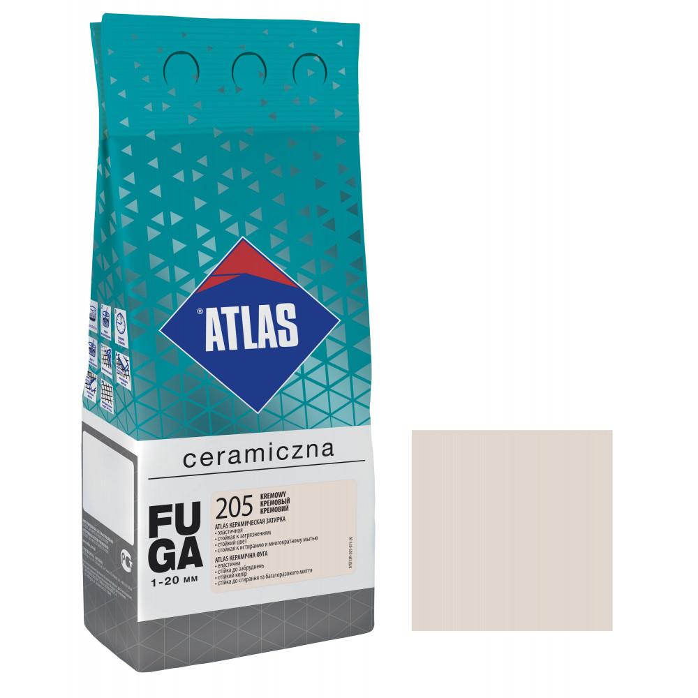 Фуга ATLAS CERAMICZNA (1-20мм) 205 кремовый 2кг