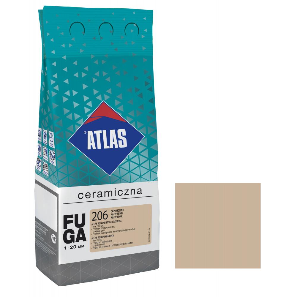 Фуга ATLAS CERAMICZNA (1-20мм) 206 капучино 2кг