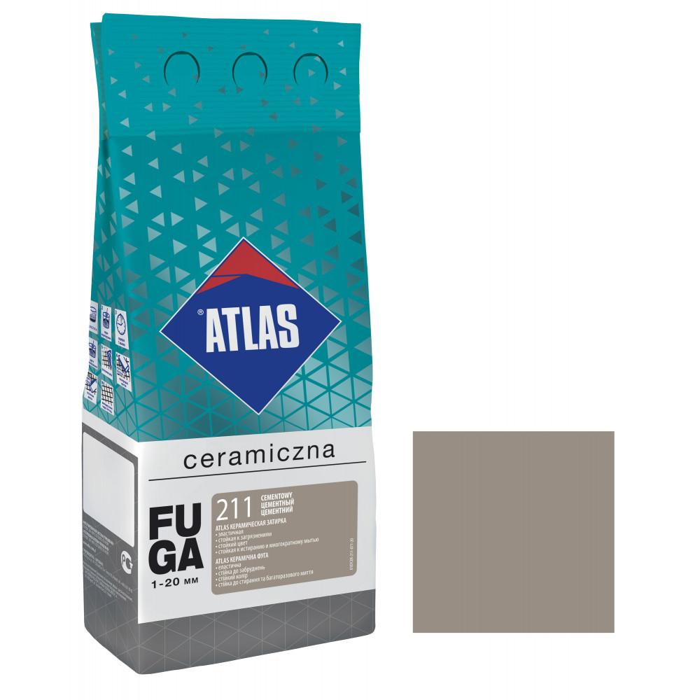 Фуга ATLAS CERAMICZNA (1-20мм) 211 цементный 2кг