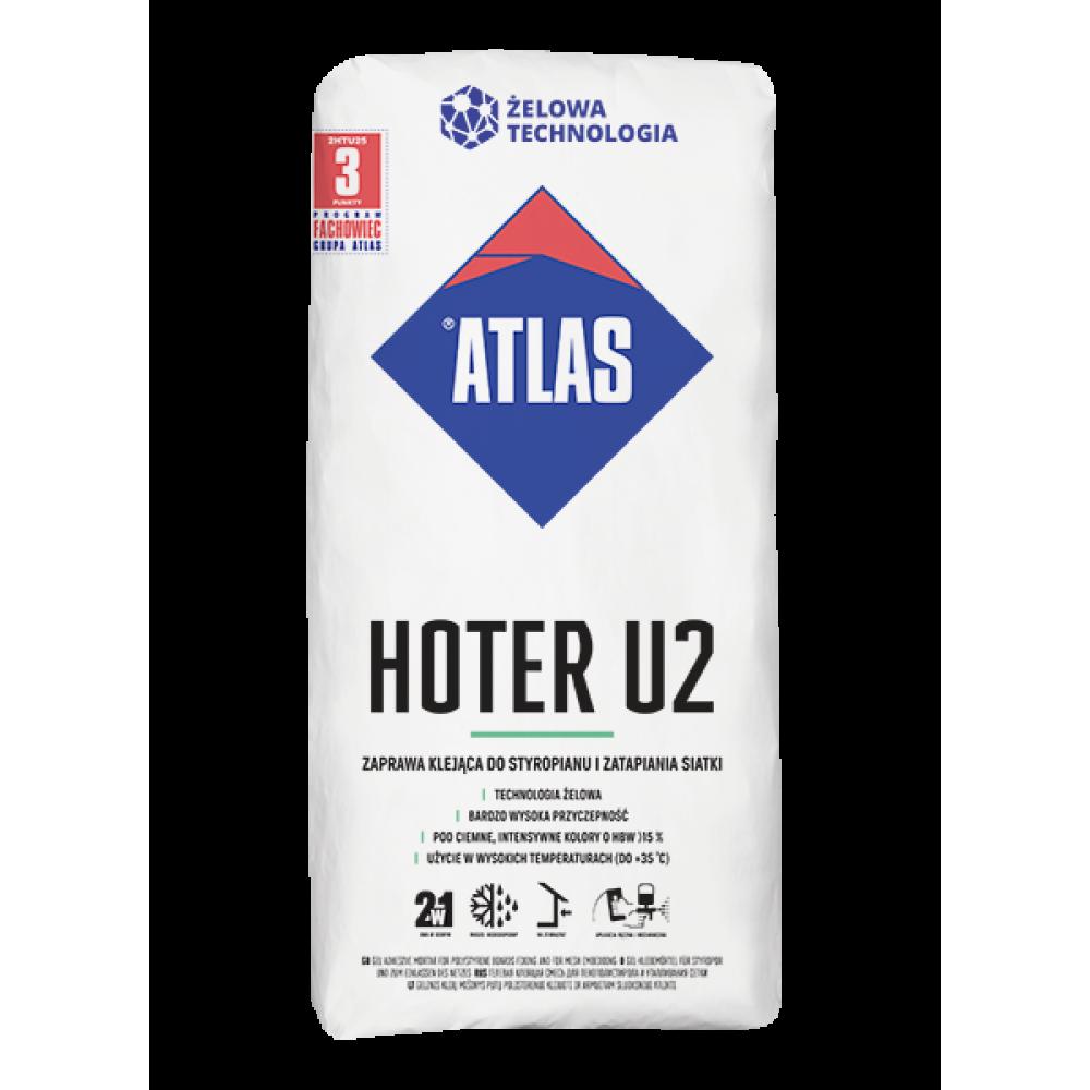 Клей для систем теплоизоляции и сетки ATLAS HOTER U2 25 кг