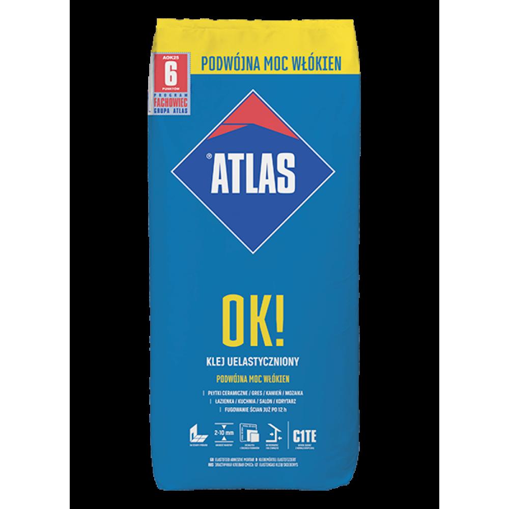 Клей для плитки ATLAS ОК! 25кг