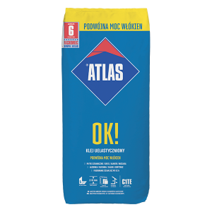 Клей для плитки еластичний ATLAS ОК!  25кг
