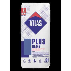Клей для плитки еластичний АТЛАС PLUS білий 25кг