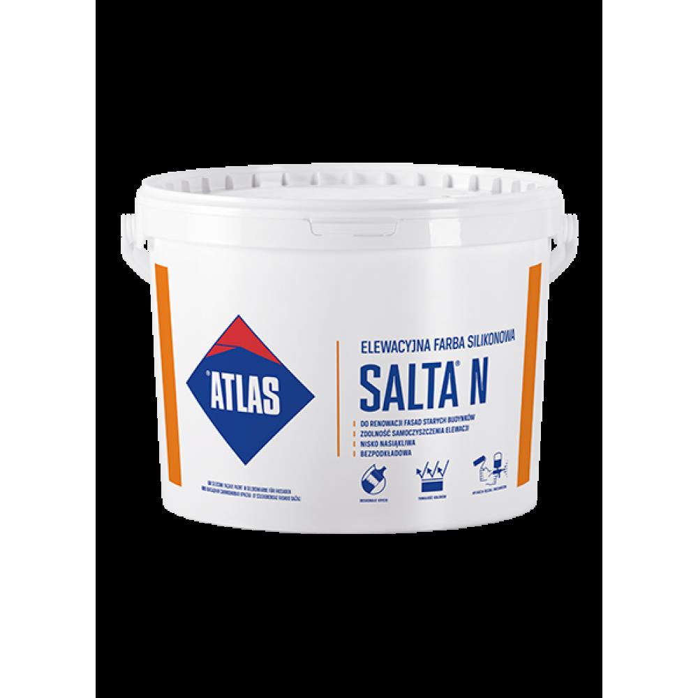 Фарба силіконова  для фасадів сіра  SALTA N ATLAS 10л.