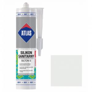 Герметик силіконовий санітарний ATLAS SILTON S 0001 білий 280ml