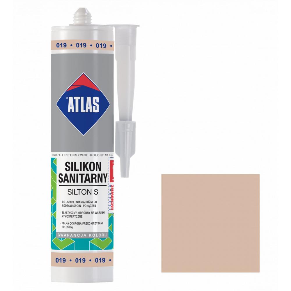Герметик силиконовый санитарный ATLAS SILTON S 0019 светло-бежевый 280ml