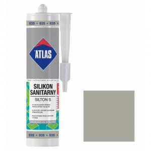 Герметик силіконовий санітарний ATLAS SILTON S 0035 сірий 280ml