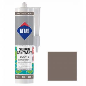 Герметик силіконовий санітарний ATLAS SILTON S 0036 темно-сірий 280ml