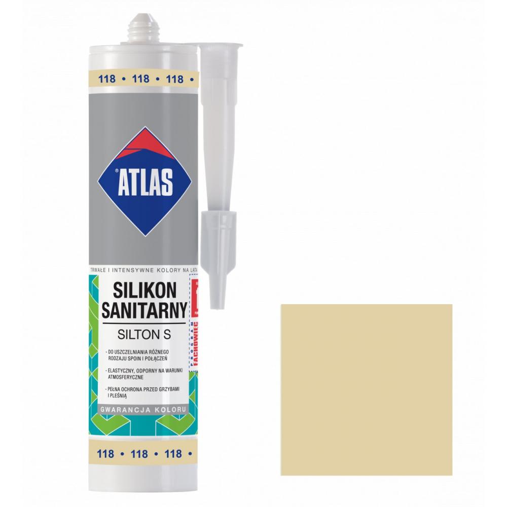 Герметик силиконовый санитарный ATLAS SILTON S 0118 жасминовый 280ml