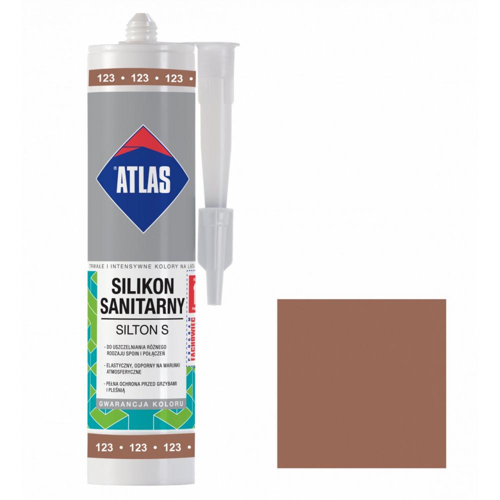 Герметик силиконовый санитарный ATLAS SILTON S 0123 светло-коричневый 280ml