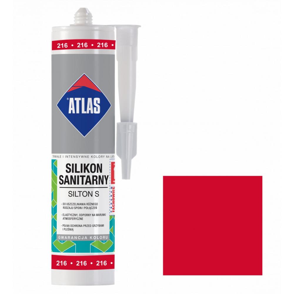 Герметик силиконовый санитарный ATLAS SILTON S 0216 красный 280ml