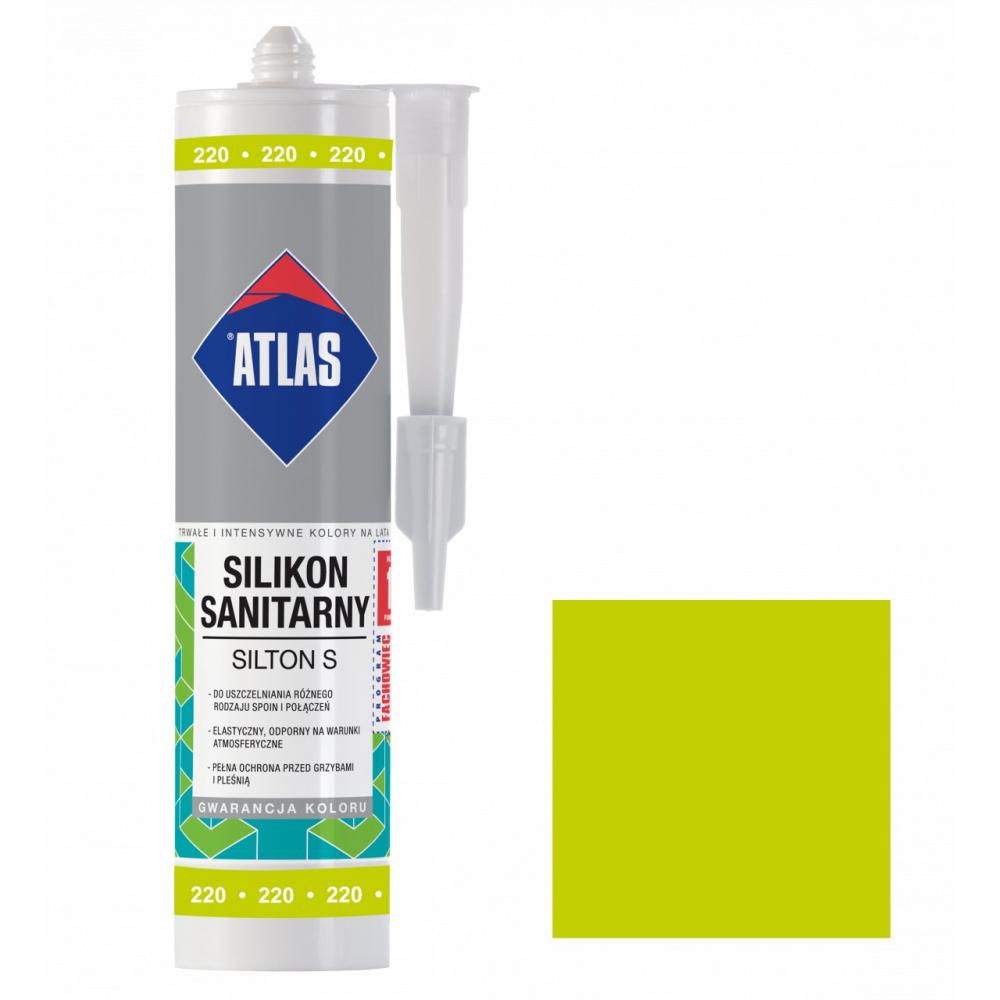 Герметик силиконовый санитарный ATLAS SILTON S 0220 авокадо 280ml