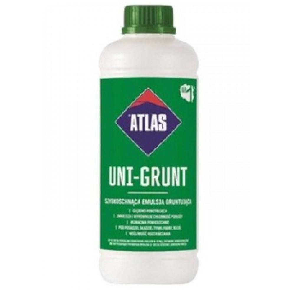 Грунтовка быстросохнущая эмульсия ATLAS UNI-GRUNT 1кг.