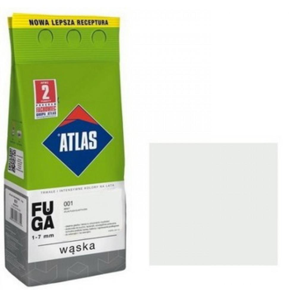 Фуга АТLAS WASKA (1-7mm) 001 белая 2кг