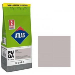 Фуга  АТLAS WASKA (1-7mm) 034 світло-сірий 2кг
