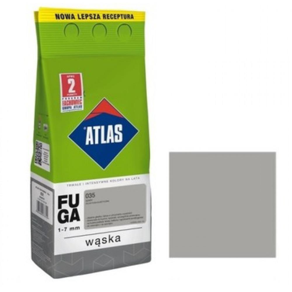 Фуга АТLAS WASKA (1-7mm) 035 серый 2кг