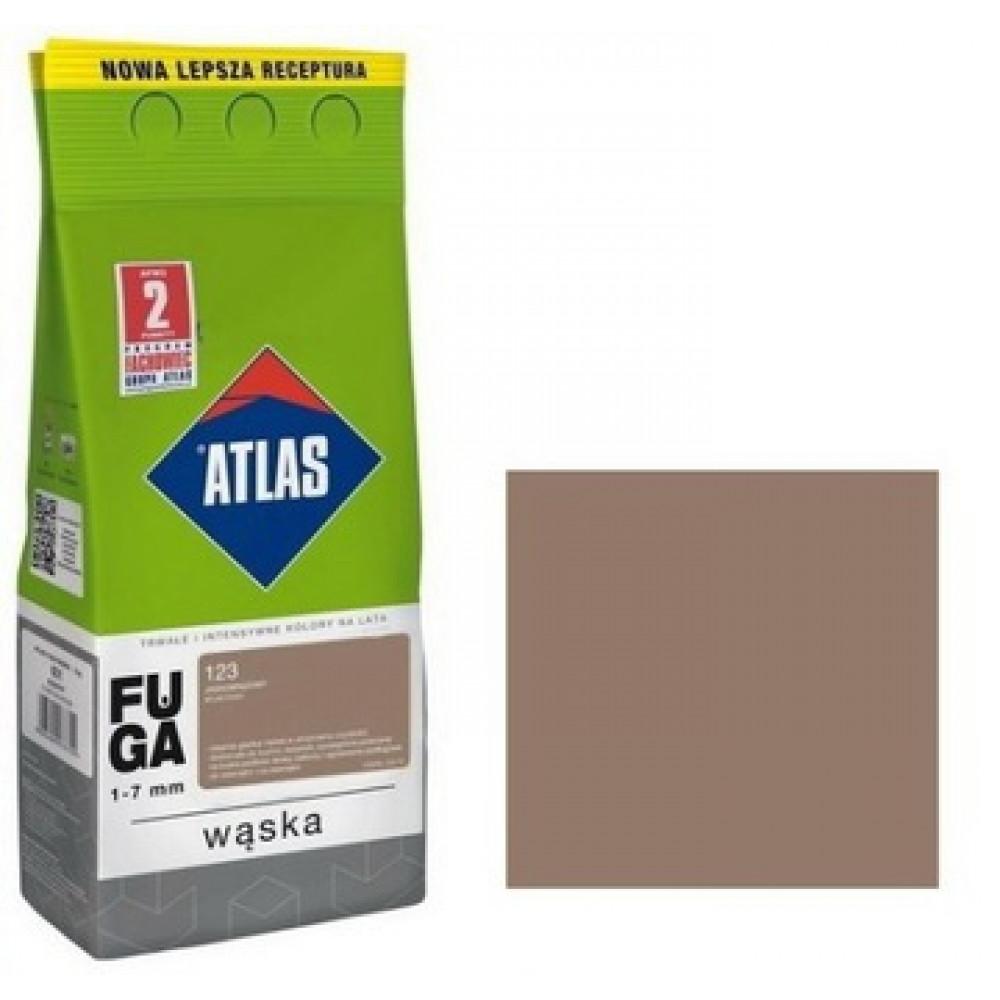 Фуга АТLAS WASKA (1-7mm) 123 светло-коричневый 2 кг
