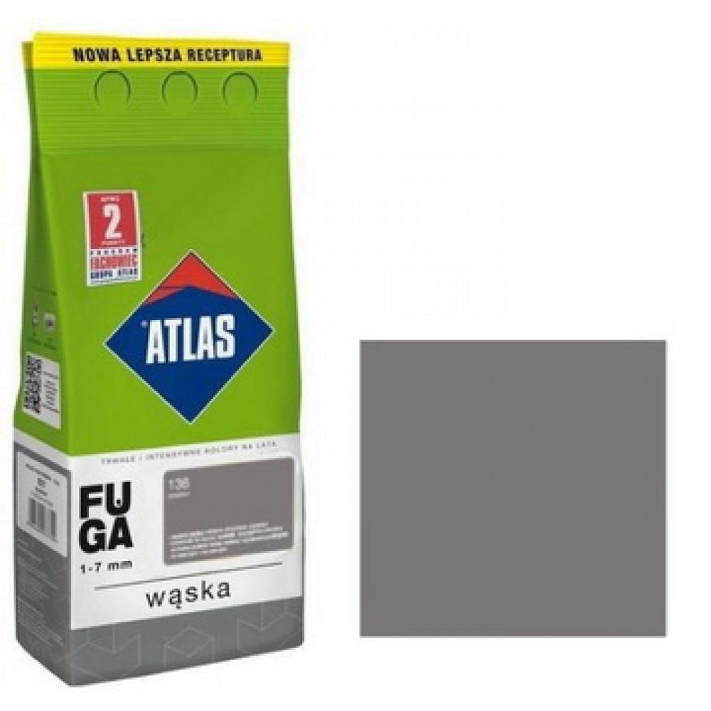 Фуга АТLAS WASKA (1-7mm) 136 серебристый 2кг