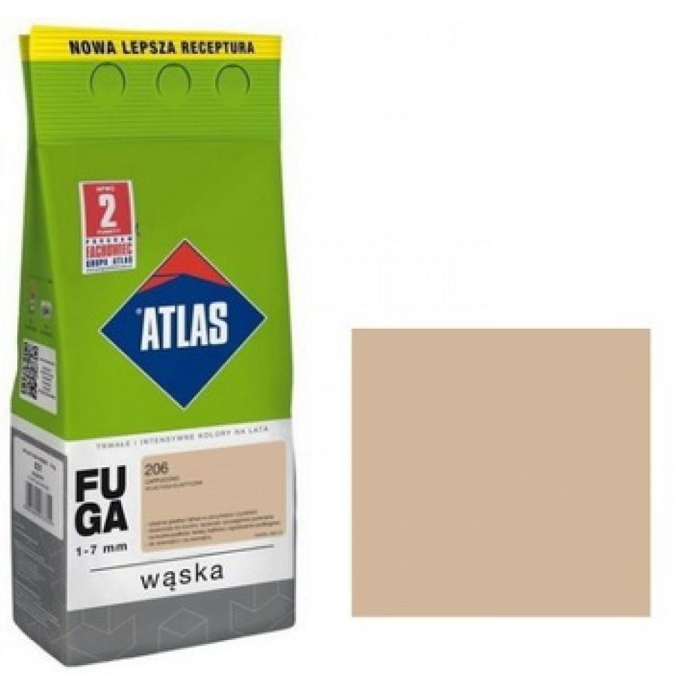 Фуга АТLAS WASKA (1-7mm) 206 капучино 2кг