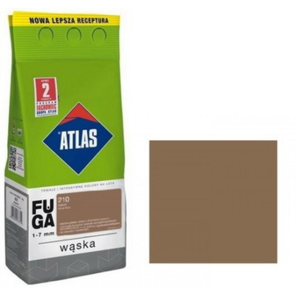 Фуга  АТLAS WASKA (1-7mm) 210 какао 2кг