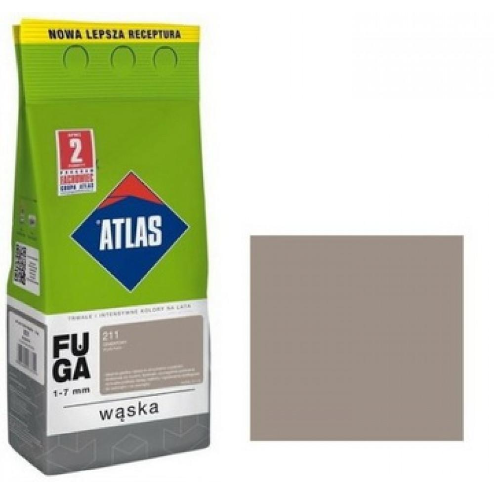 Фуга  АТLAS WASKA (1-7mm) 211 цементна 2кг