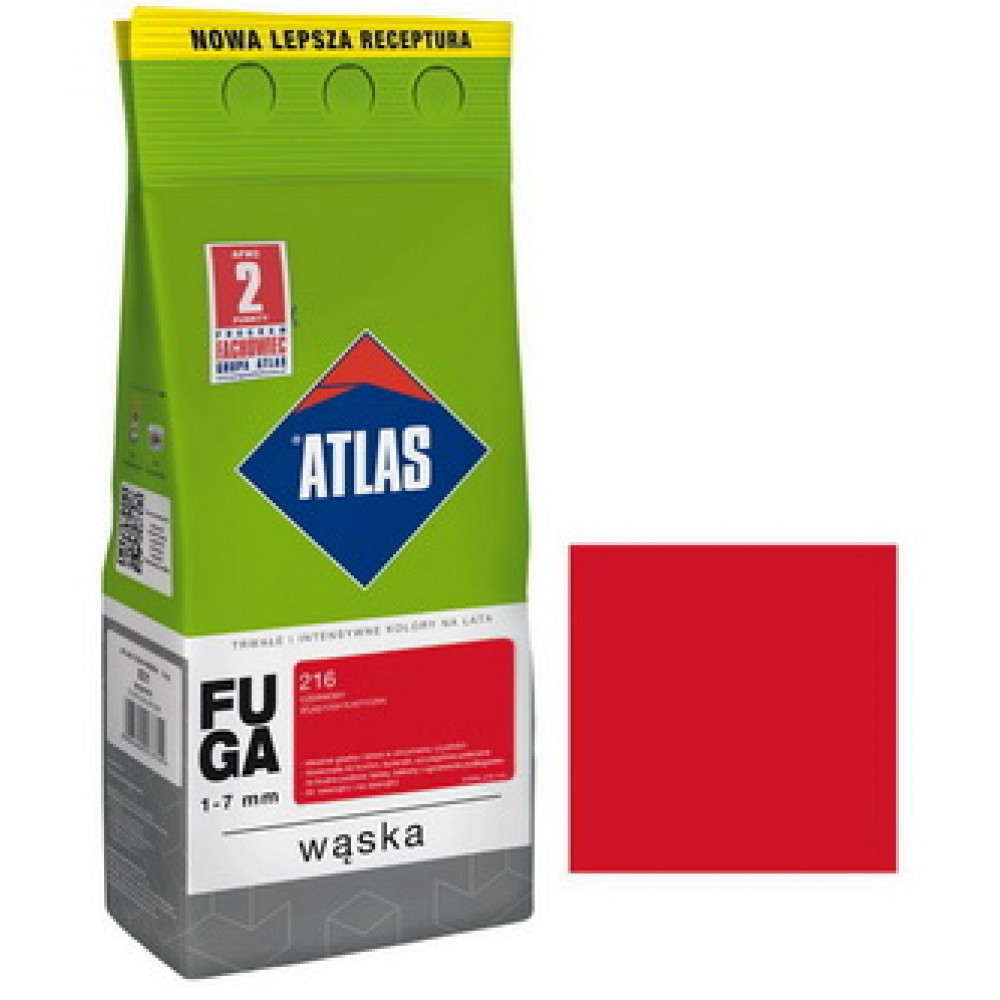 Фуга  АТLAS WASKA (1-7mm) 216 червоний 2кг
