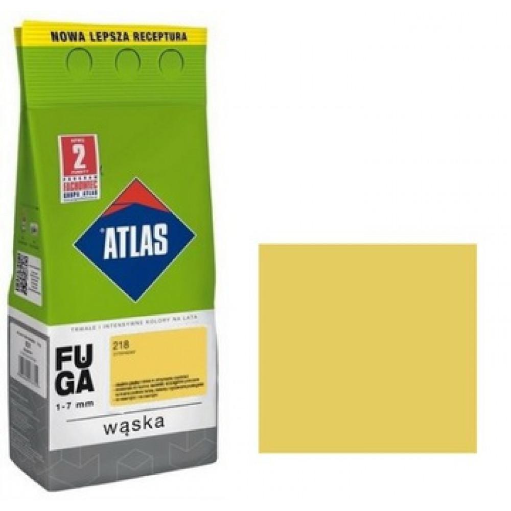 Фуга  АТLAS WASKA (1-7mm) 218 лимонний 2кг