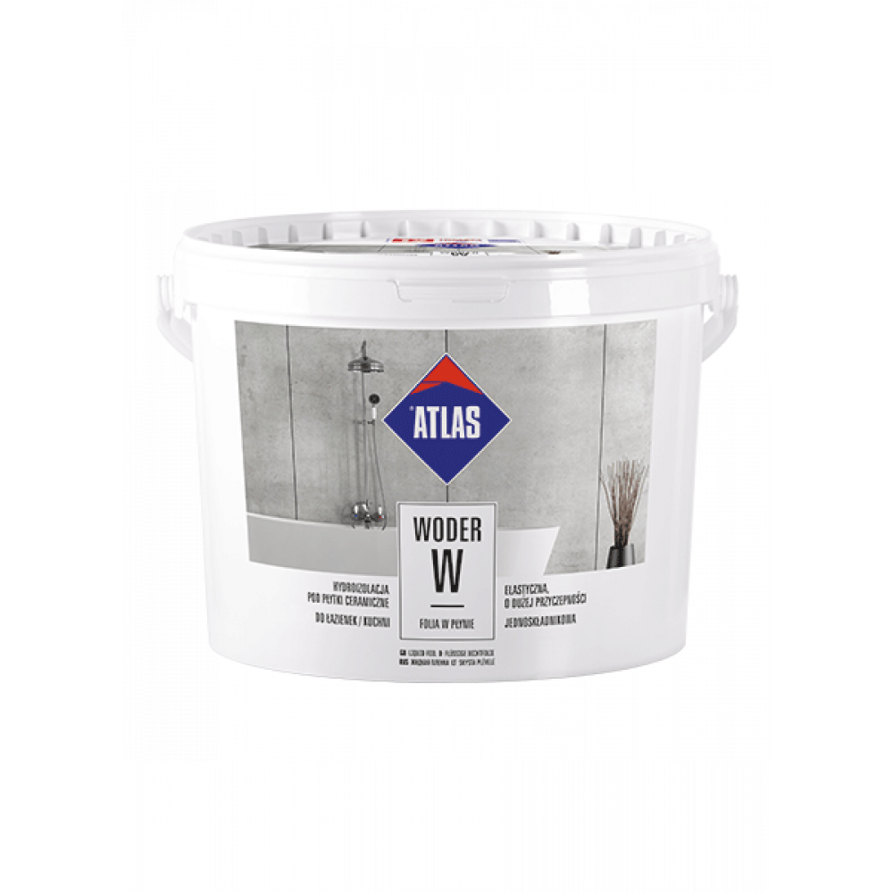 Гідроізоляція еластична однокомпонентна  ATLAS WODER W (1-3)  10 кг
