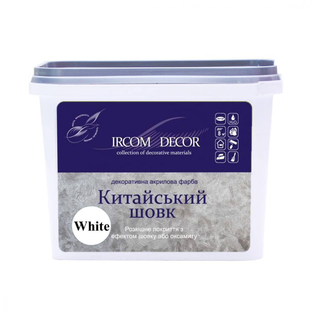 Декоративная краска Китайский шелк белый ИРКОМ 0,8 л