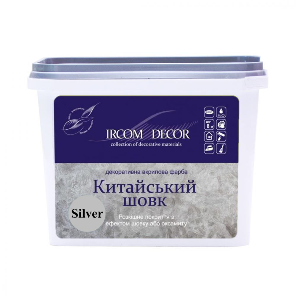 Декоративная краска Китайский шелк серебро ИРКОМ 0,8 л