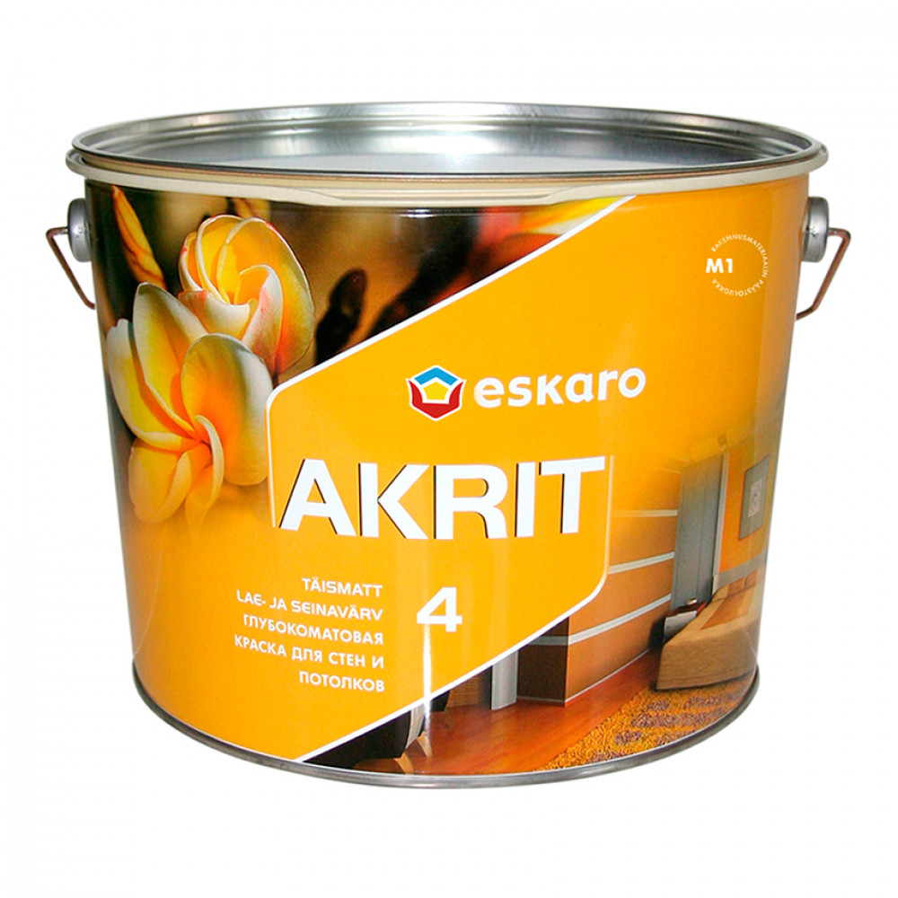 Фарба глибокоматова Akrit 4 ESKARO 9,5л