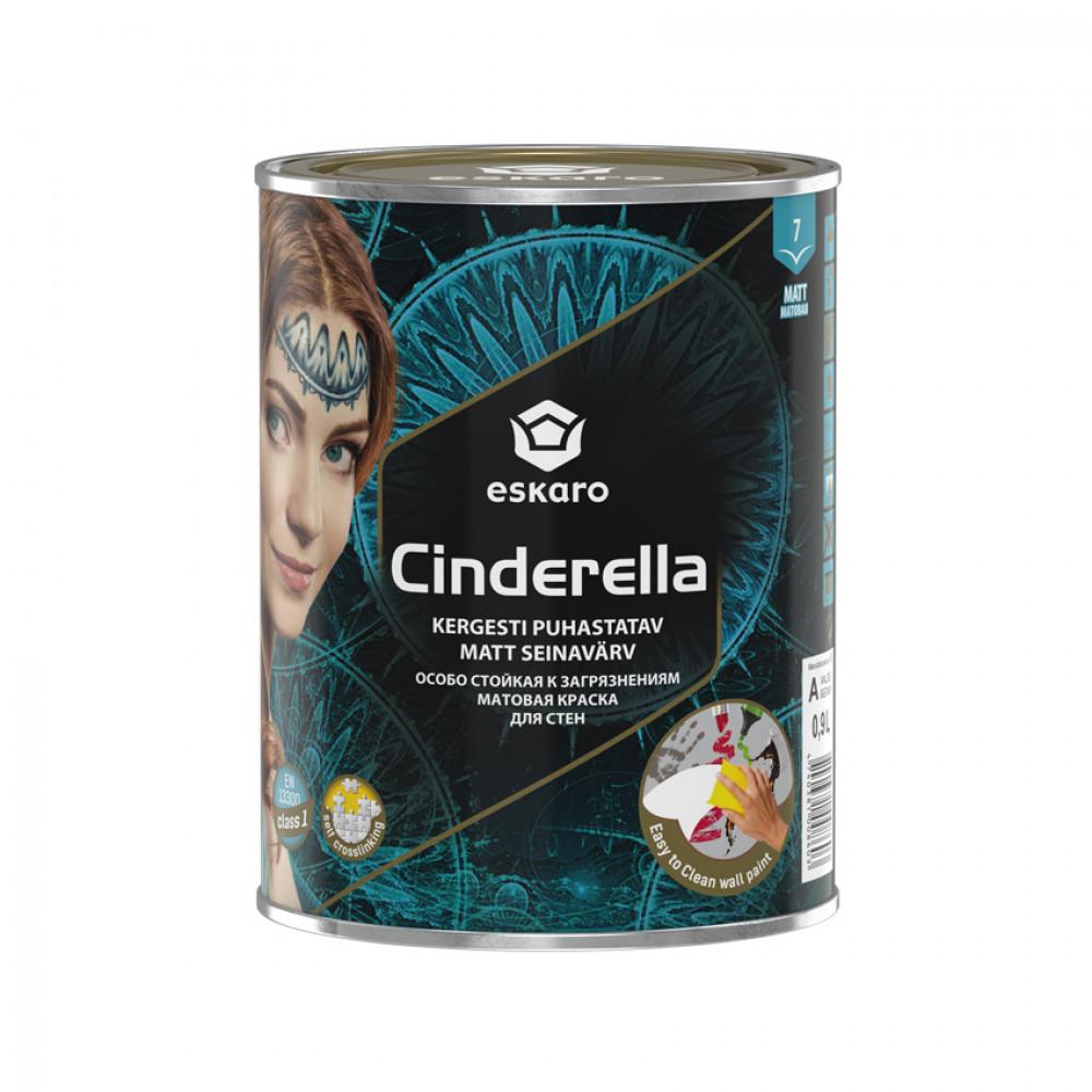 Краска матовая для потолков и стен Cinderella ESKARO 0,9 л