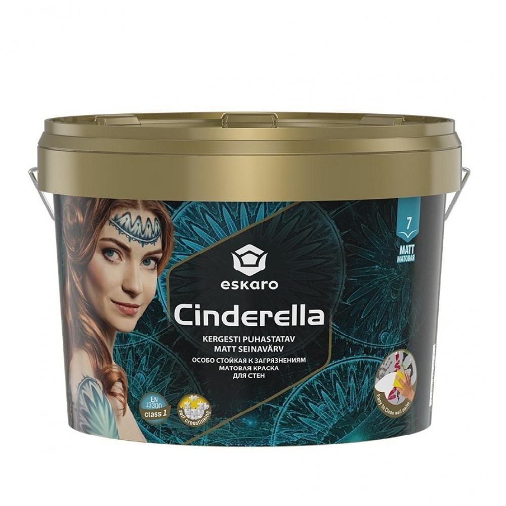 Краска матовая для потолков и стен Cinderella ESKARO 2,7л