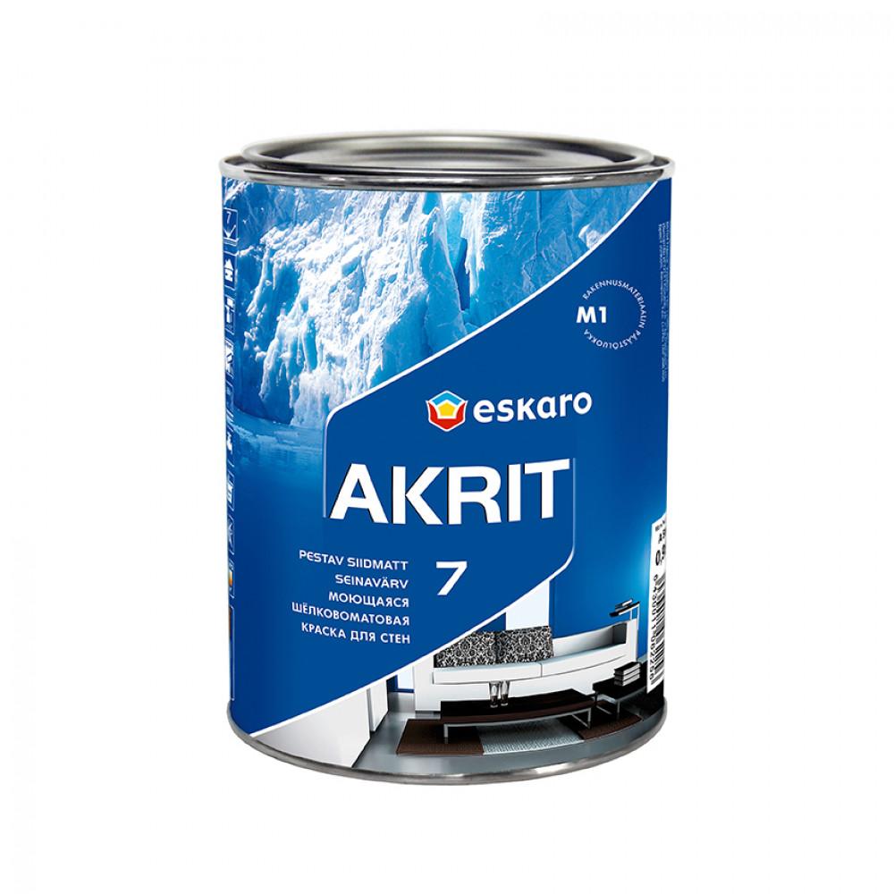 Фарба  шовкоматова Akrit 7 база TR ESKARO  0.9л