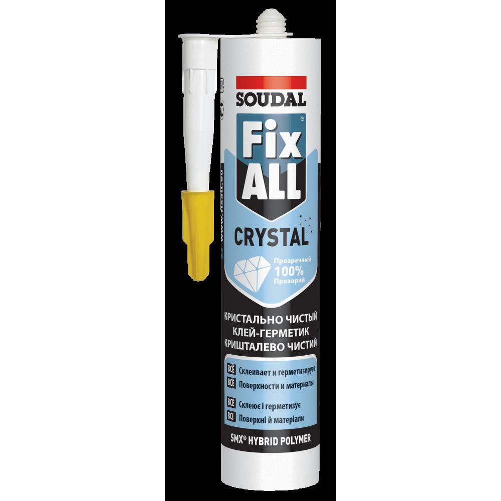 Клей-герметик FIX ALL кристалічний SOUDAL 290мл