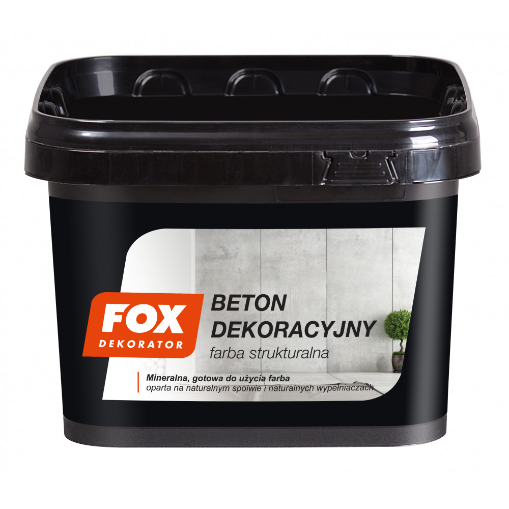 Декоративна штукатурка FOX BETON DEKORACYJNY farba strukturalna 4kg
