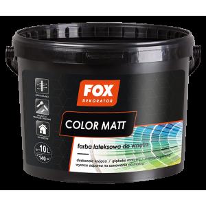 Фарба латексна внутрішня FOX DEKORATOR Color Matt біла 2,5л.