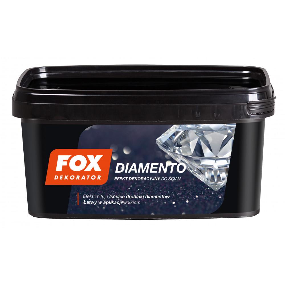 Декоративна структурна фарба FOX DEKORATOR DIAMENTO UA 0007 carbon 1L