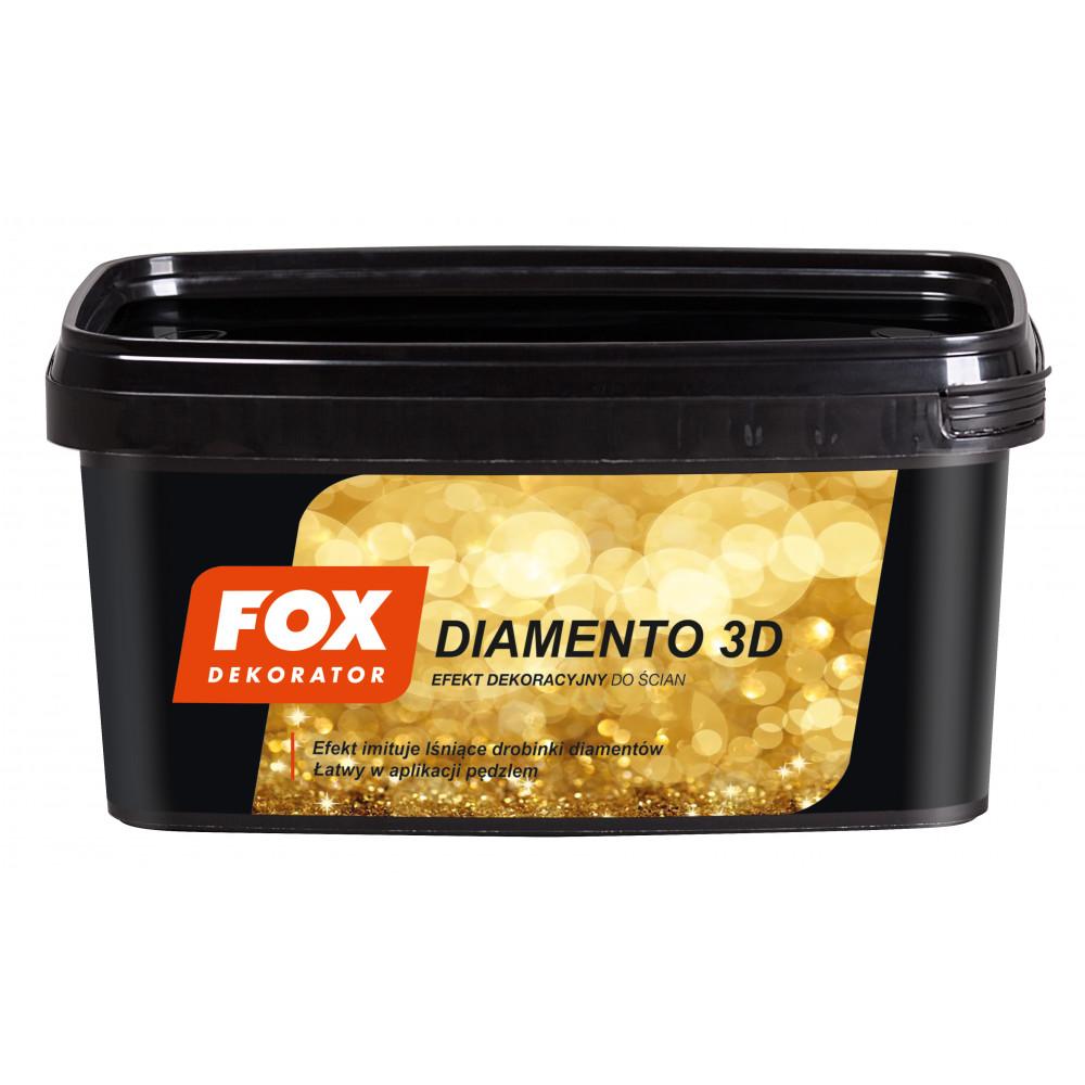 Декоративная структурная краска FOX DEKORATOR DIAMENTO 3D UA gold 0006 1L