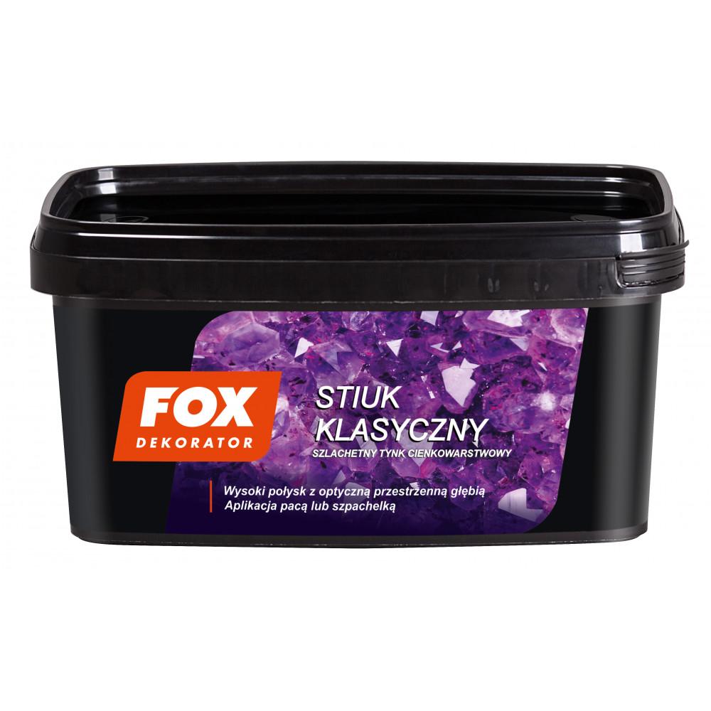 Декоративная штукатурка FOX DEKORATOR STIUK KLASYCZNY UA 8kg
