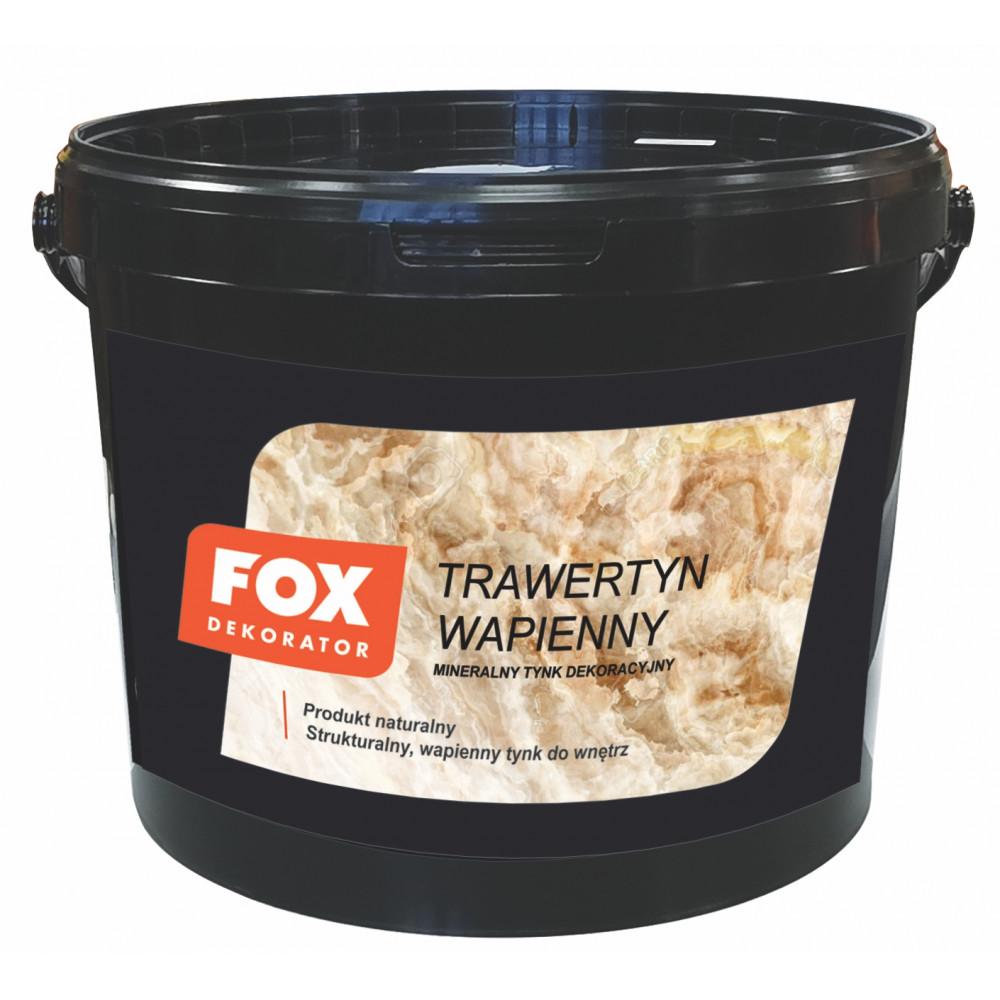 Декоративна штукатурка FOX DEKORATOR TRAWERTYN WAPIENNY ekstra drobny ziarno 10kg